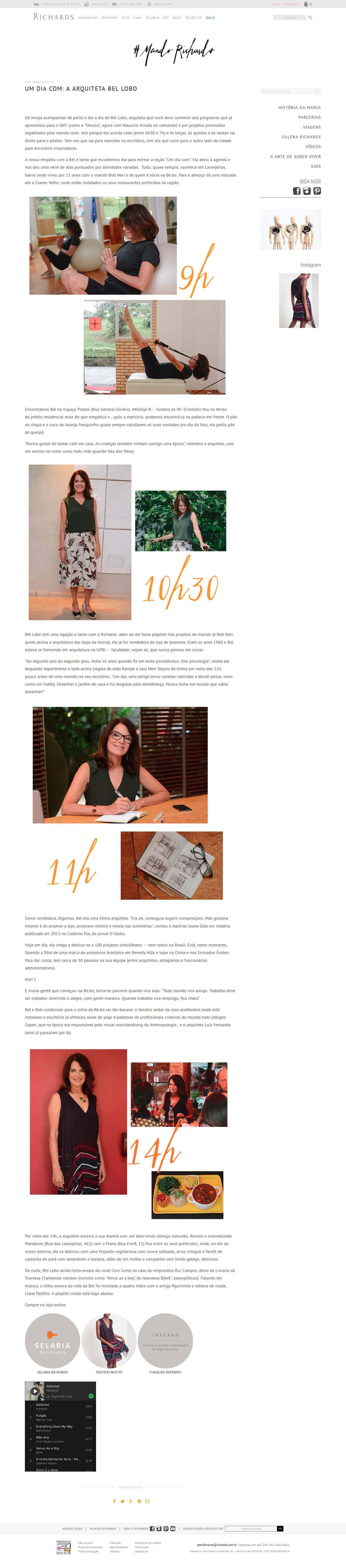 Um dia com: a arquiteta Bel Lobo - Richards - 09/03/2016