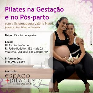 Pilates na Gestação e no Pós-parto com Valéria Mauriz em São José dos Campos/SP