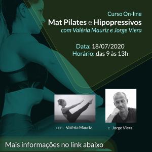 Curso On-line Mat Pilates e Hipopressivos com Valéria Mauriz e Jorge Viera